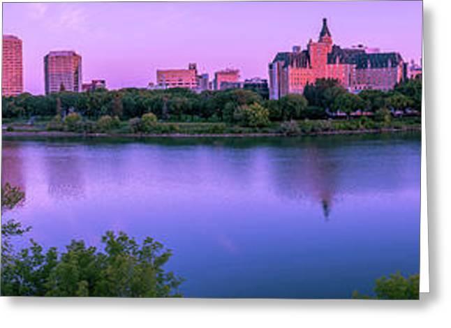 Sunrise Over South Saskatchewan River Greeting Card