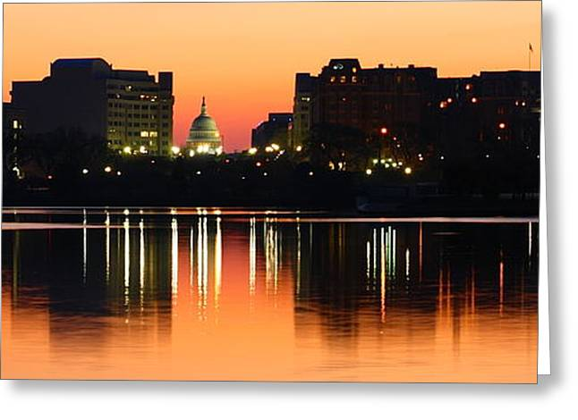 Sunrise Over The Capitol-2 Greeting Card