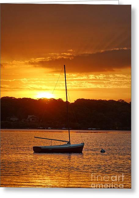 Sunrise Sailboat Greeting Card
