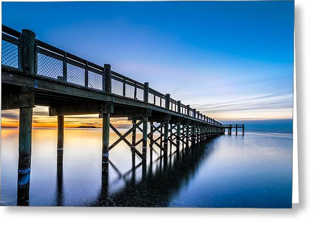 Sunrise Under The Boardwalk Greeting Card