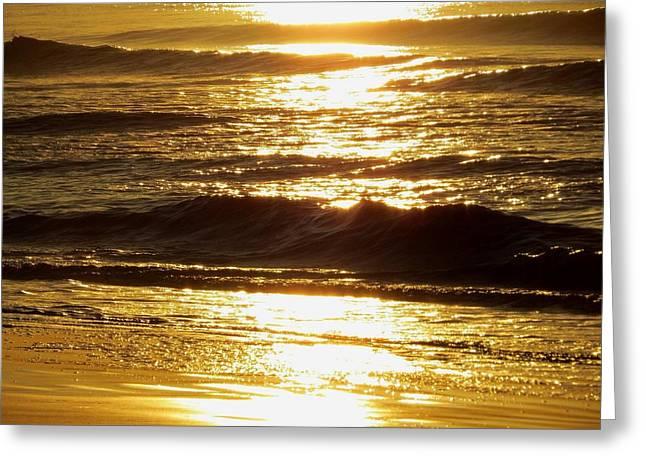 Sunrise Waves Greeting Card
