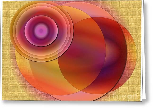 Greeting Card featuring the digital art Sunsational by Iris Gelbart