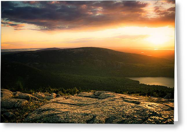 Sunset Acadia National Park Maine Greeting Card