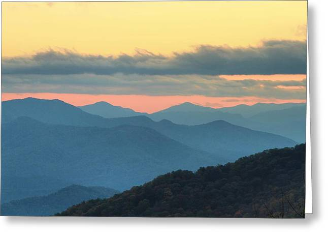 Sunset At Blue Ridge Parkway Greeting Card by Dan Sproul