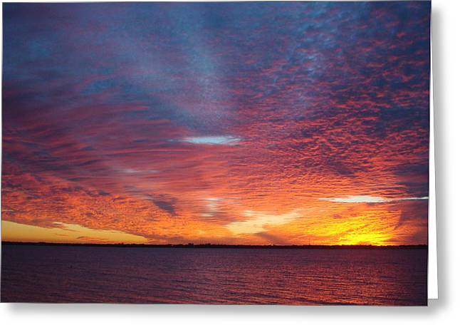 Sunset At Cafe Coconut Cove 5 Greeting Card