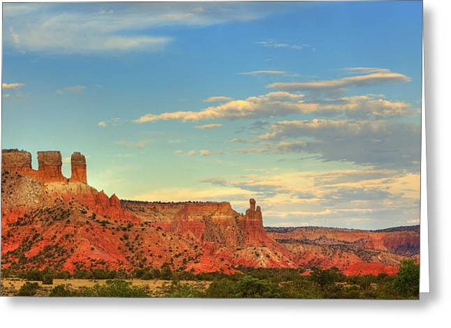 Greeting Card featuring the photograph Sunset At Ghost Ranch by Alan Vance Ley