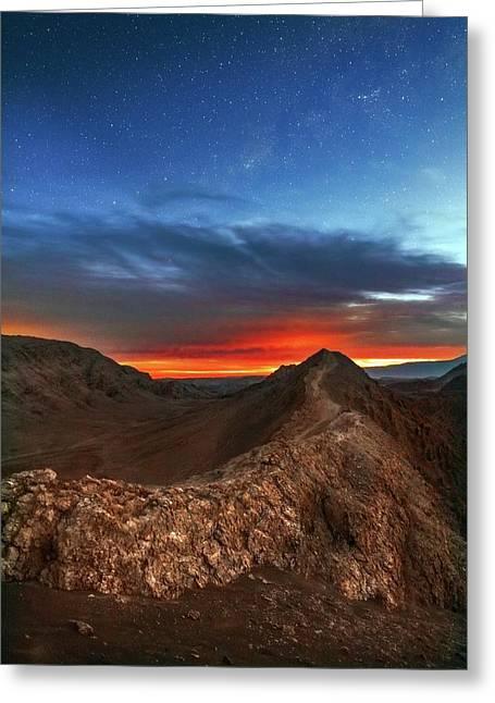 Sunset Greeting Card by Babak Tafreshi