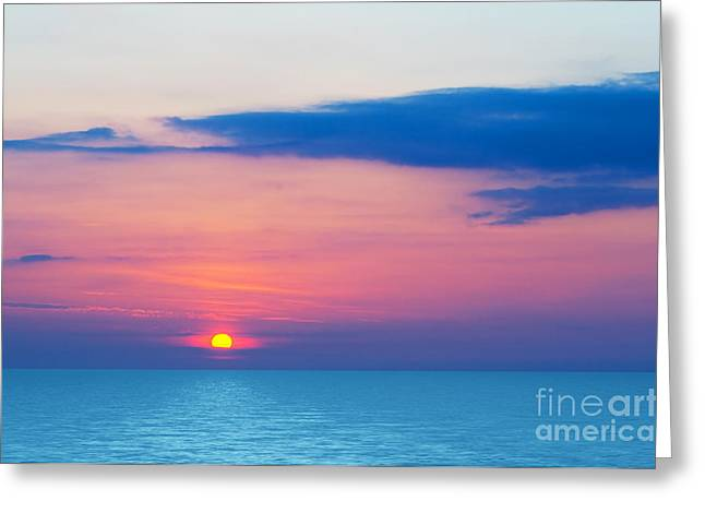 Sunset By The Sea Greeting Card by Michal Bednarek