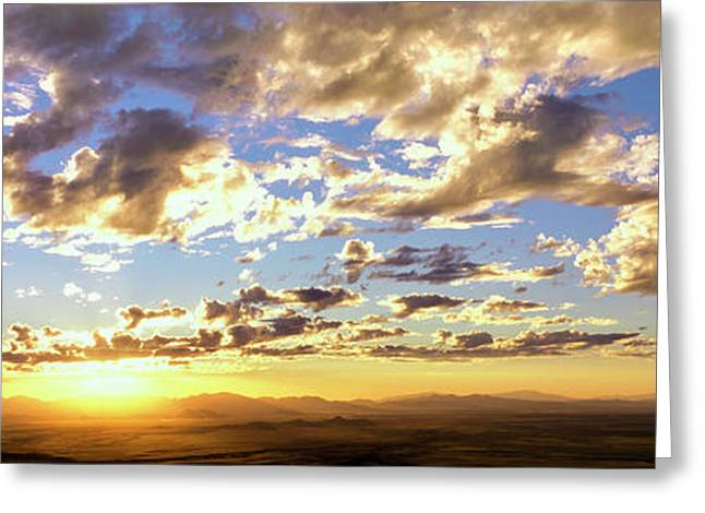 Sunset From The Rim Of Canyon De Chelly Greeting Card by Panoramic Images