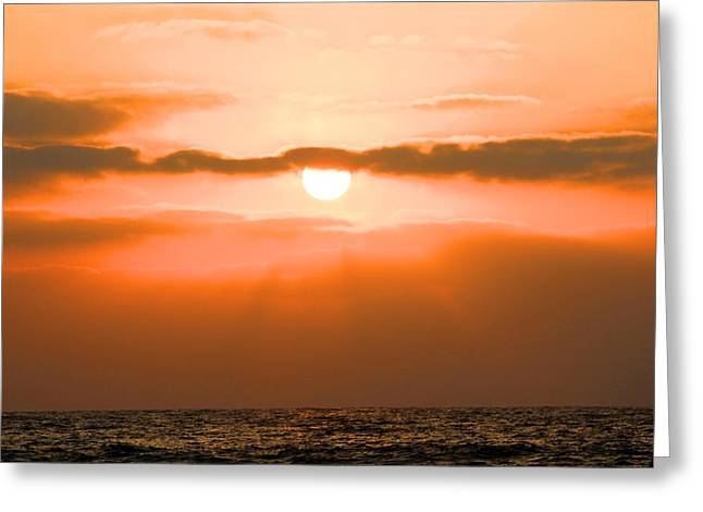 Sunset Greeting Card by Gregor  Gatti