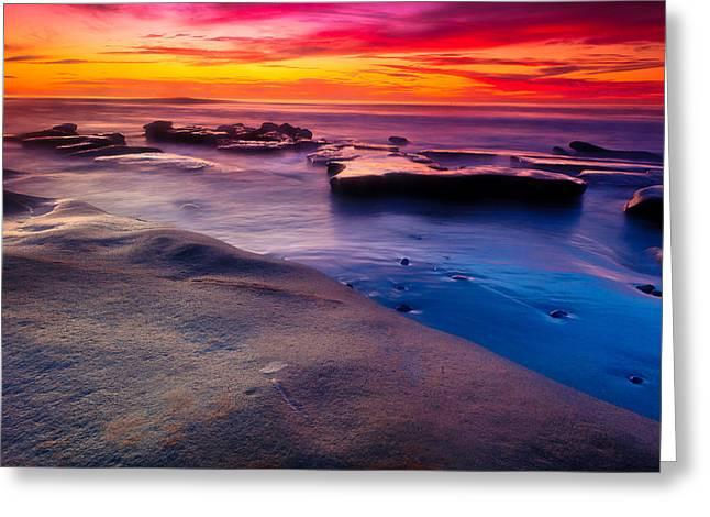 Sunset In La Jolla  Greeting Card
