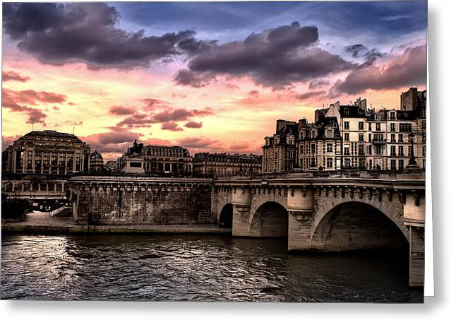 Sunset In Paris Greeting Card