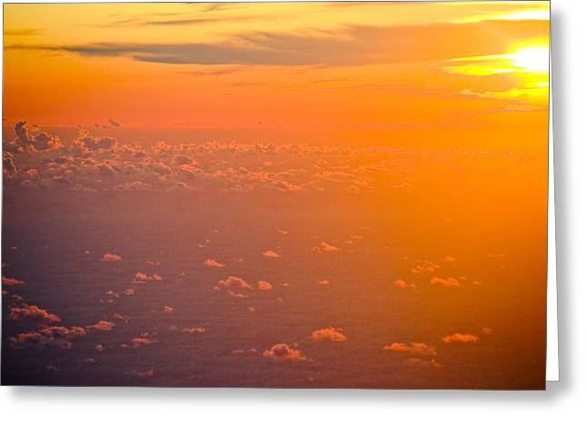 Sunset In The Sky Greeting Card by Raimond Klavins