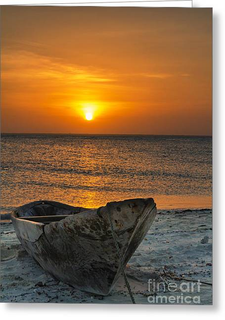 Sunset In Zanzibar - Kendwa Beach Greeting Card by Pier Giorgio Mariani