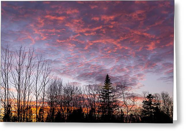 Sunset Jonesport Maine  Greeting Card