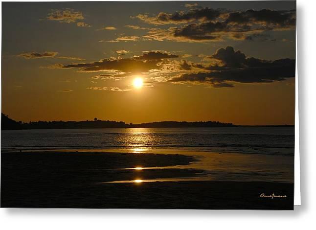 Greeting Card featuring the photograph Sunset On Crane Beach by AnnaJanessa PhotoArt