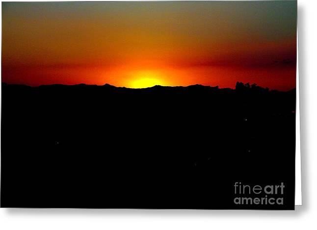 Sunset Over Arizona Greeting Card by John Potts