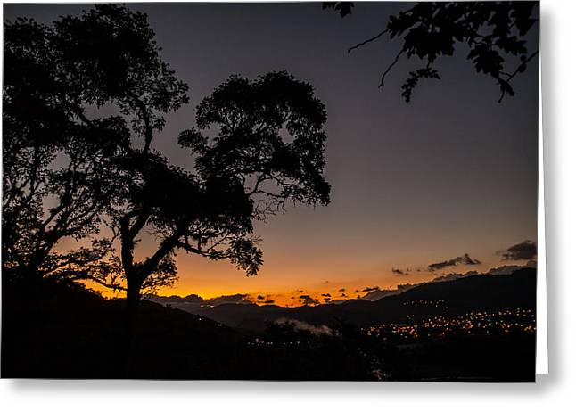 Sunset Over Copan Greeting Card