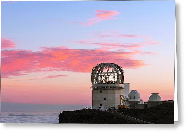Sunset Over Haleakala Observatories Greeting Card by Babak Tafreshi