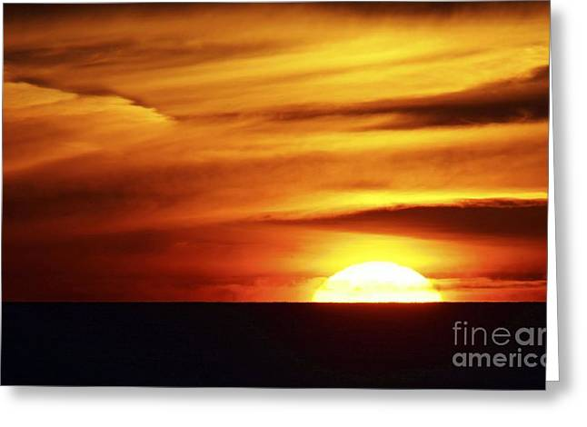 Sunset Over The Black Sea Greeting Card by RIA Novosti