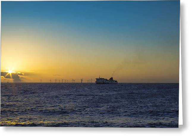 Sunset Over The Irish Sea Greeting Card by Paul Madden