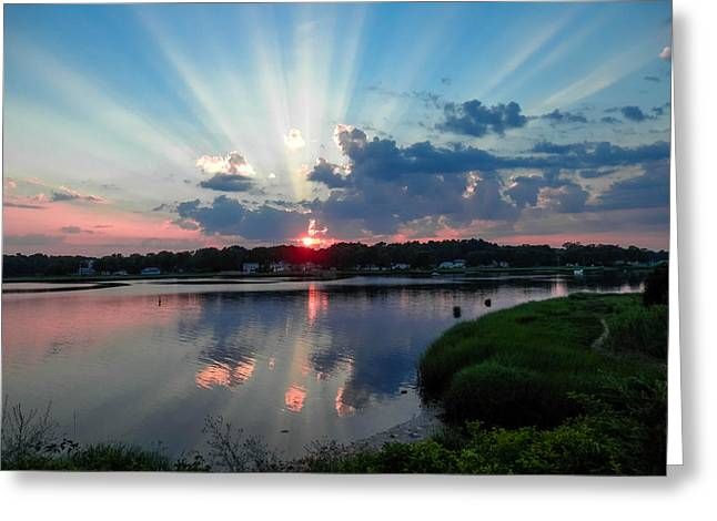 Sunset Rays Greeting Card by Heather Sylvia