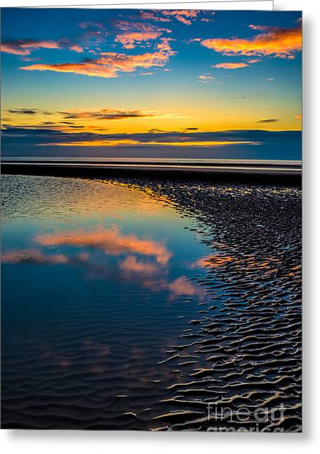 Sunset Reflections Greeting Card by Adrian Evans