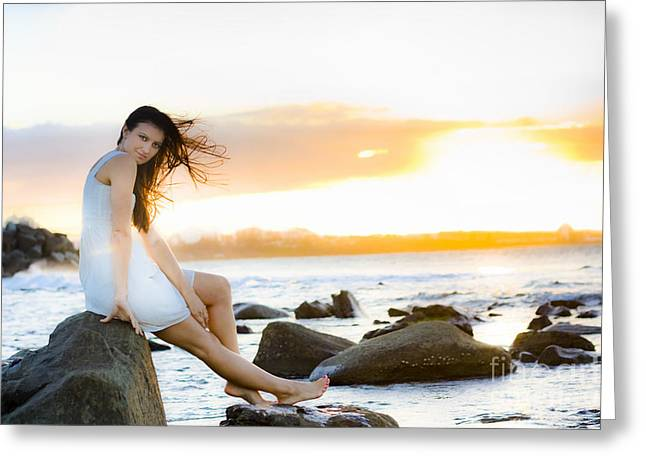 Sunset Greeting Card by Jorgo Photography - Wall Art Gallery