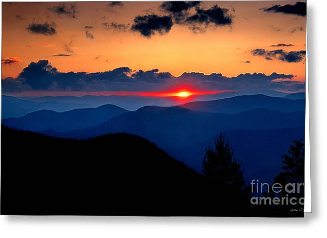 Sunset View From The Blue Ridge Parkway 2008 Greeting Card