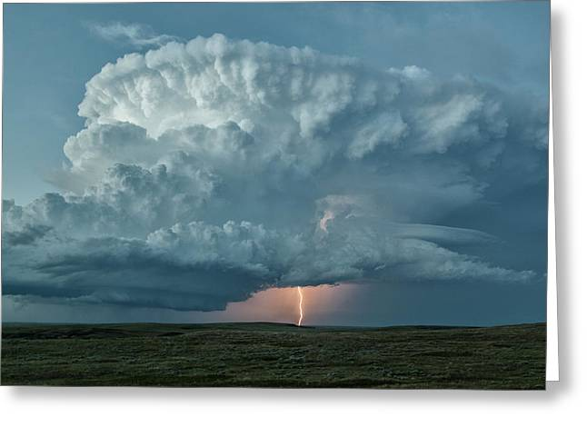 Supercell Thunderstorm And Lightning Greeting Card