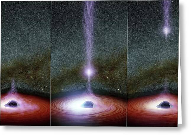 Supermassive Black Hole Corona Greeting Card by Nasa/jpl-caltech