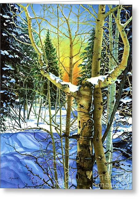 Greeting Card featuring the painting Supplication-psalm 28 Verse 2 by Barbara Jewell