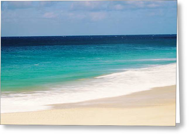 Surf On The Beach, Oahu, Hawaii, Usa Greeting Card by Panoramic Images