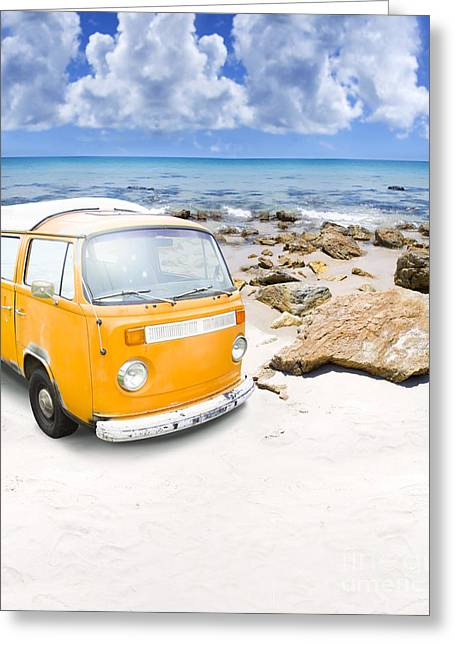 Surf Van Greeting Card by Jorgo Photography - Wall Art Gallery