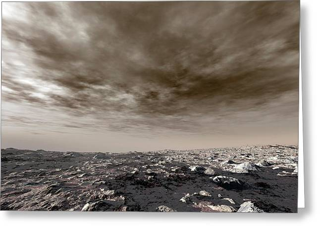 Surface Of Venus Greeting Card by Detlev Van Ravenswaay