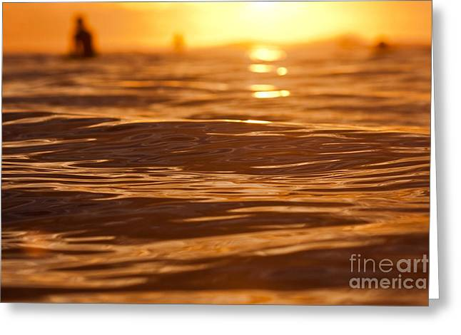Greeting Card featuring the photograph Surfers Sunset by Paul Topp