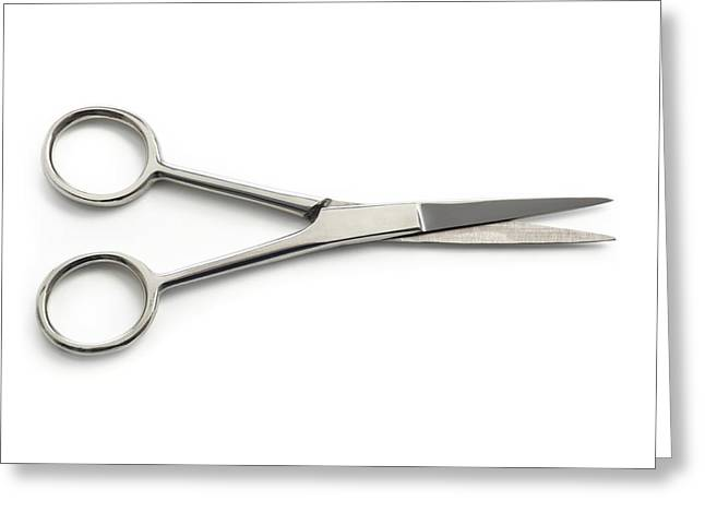 Surgical Scissors Greeting Card by Science Photo Library