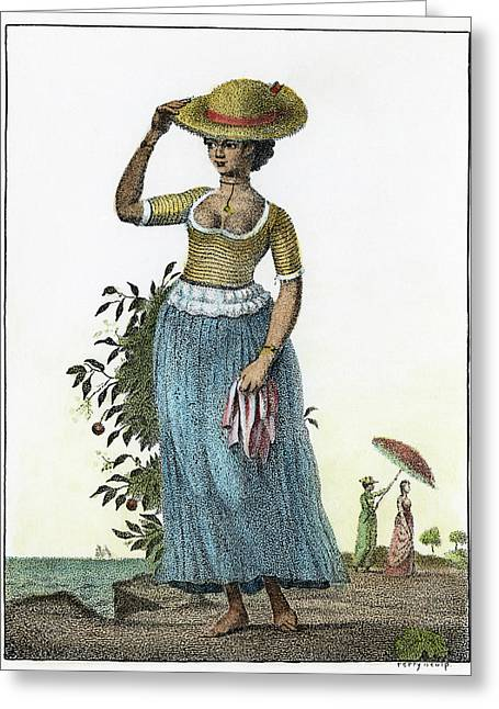 Surinam Female Slave, 1796 Greeting Card by Granger