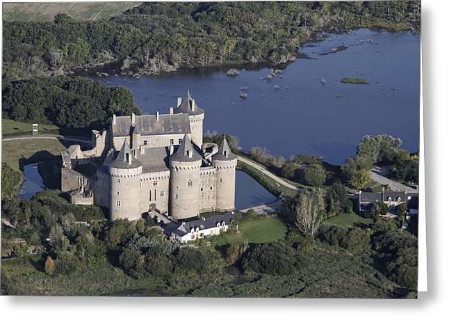 Suscinio Castle, Sarzeau Greeting Card by Laurent Salomon