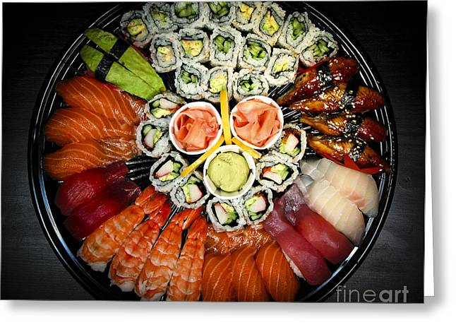 Sushi Party Tray Greeting Card