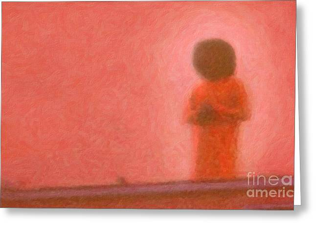 Swami Greeting Card by Tim Gainey