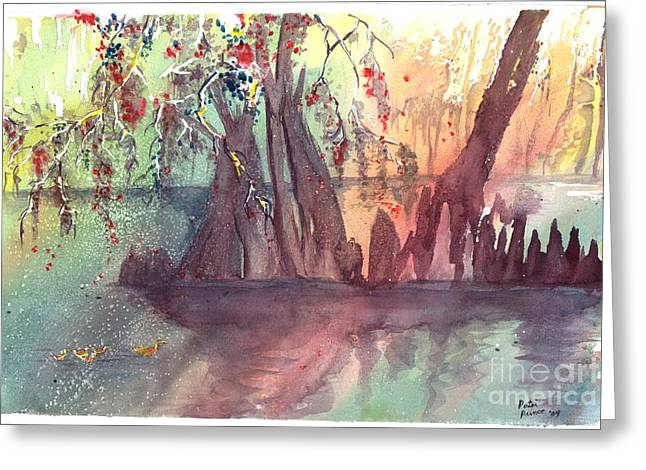 Swamplight Greeting Card