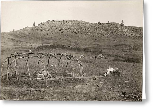 Sweat Lodge, C1910 Greeting Card