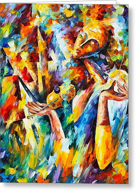 Sweet Dreams Greeting Card by Leonid Afremov