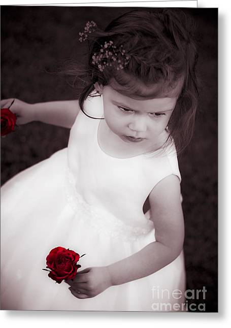 Sweet Little Rose Girl Greeting Card by Jorgo Photography - Wall Art Gallery