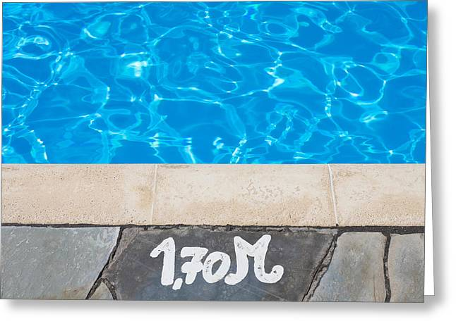 Swimming Pool Greeting Card by Tom Gowanlock