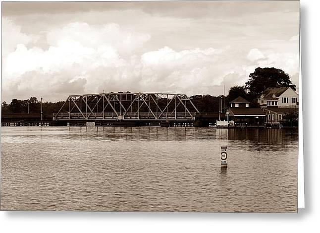 Swing Bridge Greeting Card by Carolyn Ricks
