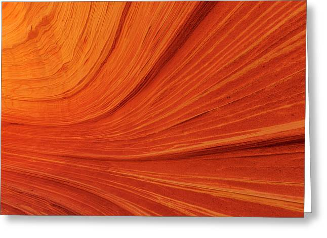 Swirling Sandstone At The Wave Greeting Card by Chuck Haney
