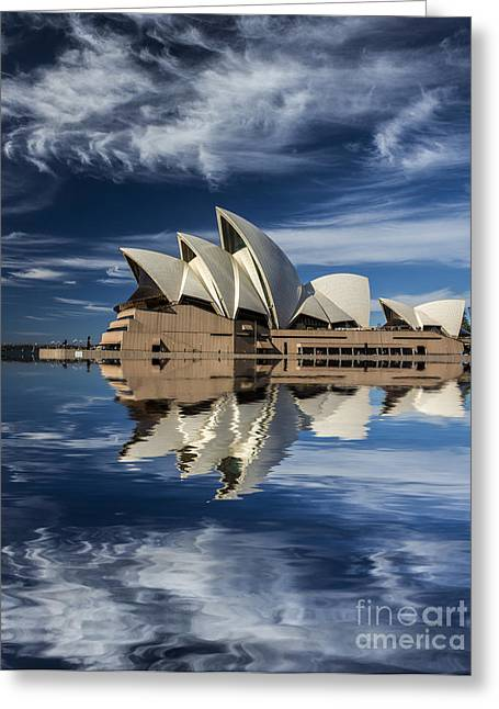 Sydney Opera House Reflection Greeting Card