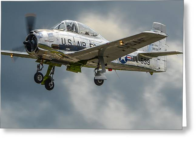 T-28 Trojan  Greeting Card by Puget  Exposure